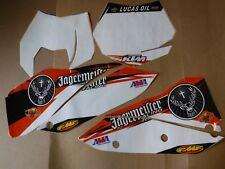 TEAM  KTM NUMBER PLATE GRAPHICS  SX SXF 07 08 09 10 WHITE BOARDS  Lucas