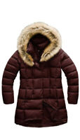 New THE NORTH FACE Women's Dealio 550 Fill Power Down Parka In Maroon Red Sz XL