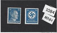 MNH stamp set / PF20 / Adolph Hitler & WWII emblem / Third Reich / MNH stamps