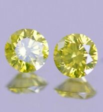 0.70 carat Natural Diamond Fancy DARK Yellow SI2-SI3 Certified PERFECT PAIR