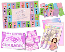 Baby Shower Game Pack-qui sait momie Best-Charades-Guess Who/rose-fille