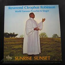Reverend Cleophus Robinson - Sunrise, Sunset LP VG PLP 165 Peacock Vinyl Record