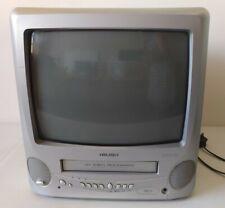 "Bush 14"" CRT Retro Gaming TV Combi VHS Player VCR BTV18SIL Working"