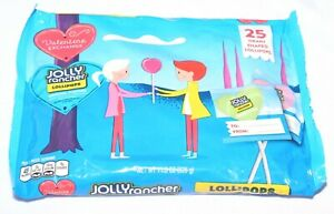 Jolly Rancher Heart Shaped Valentine's Lollipops Assortment 11.5 Ounce, 25 Count
