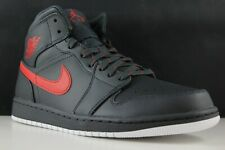 watch 02ce0 0083d Nike Air Jordan 1 Mid Size 10 Mens Anthracite Gym Red-White 554724-