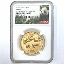 2012 panda 30th anniversary 1oz gold coin G500Y NGC PF69 Ultra Cameo with coa