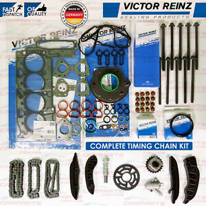 FOR BMW 1 SERIES UPPER LOWER DIESEL TIMING CHAIN ROCKER COVER HEAD GASKETS BOLTS