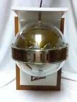 Schlitz beer sign 1968 motion spinning globe wall sconce light vintage lighted