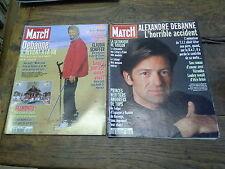 Lot de 2 Paris Match sur Alexandre Debanné 27 juin 1996  24 octobre 1996