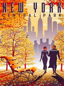 New York USA Art Lovers In The Big City Central park A0 A1 A2 A3 A4 photo poster