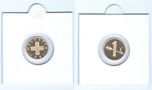 Suisse 1 Centime Pp De KMS (Choisissez Entre : 1975 - 2006)