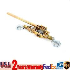 4400Lb 2 Ton Hoist Ratchet Hand Lever Puller Come Along Hoist Hooks Cable Hd Us