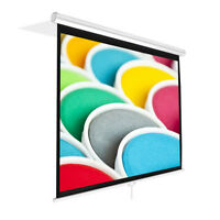 """PRJSM1006 Universal 100"""" Roll-Down Pull-Down Manual Projection Screen White"""