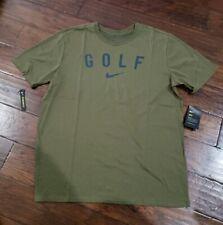 Nike Mens Dri-Fit Golf T Shirt Size Xl 932475 395 Olive