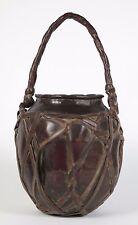 Japanese bronze and bamboo 'hanakago'  ikebana basket. Late Edo  c1850