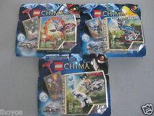 3 Lego Legends Of Chima RAZAR 70100 EGLOR 70105 WINZAR 70106B BRAND NEW UNOPENED