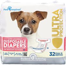Pañales para perras hembras mascotas desechable ultra proteccion 32PCS pequeno