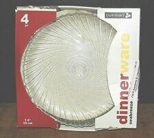 "Seabreeze Luminarc 7.5"" Textured Glass Plates - New in Box-Set of 4"