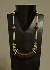 Necklace Large African Coconut Shell Discs Ostrich Shell African Glass Neckace