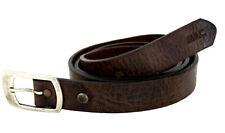 "Mac Jeans Uomo in Pelle Cintura men leather belt dimensioni 95 37"" MADE IN ITALY NUOVO"