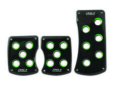 BLACK GREEN M/T CLUTCH BRAKE GAS PEDAL PADS HONDA CIVIC ACCORD INTEGRA GSR TSX