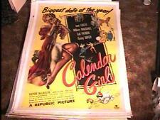 CALENDER GIRL MOVIE POSTER '47 PIN UP ART LINEN GREAT