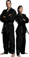 Black Kimono Jiu Jitsu Judo Uniform Gi Youth & Adult Student Sizes