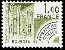 "FRANCE PREOBLITERE TIMBRE STAMP N°164 ""MONUMENTS, TOURS DE BOURGES"" NEUF xx TTB"