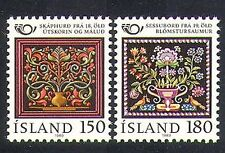 Islanda 1980 cooperazione postale/ricamo/Intaglio/PITTURA/ARTE/Craft 2 V n37870