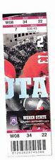 2013 UTAH UTES VS WEBER STATE COLLEGE FOOTBALL FULL TICKET STUB 9/7/12