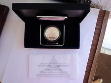 Library of Congress 2000-P commemorative one silver dollar coin. w/coa