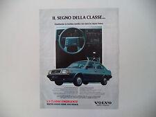 advertising Pubblicità 1984 VOLVO 360 GLE