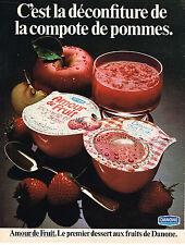 PUBLICITE ADVERTISING  1975   DANONE   AMOUR DE FRUIT compote