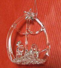 Décoration de sapin crèche à suspendre tout en verre  (NO54)