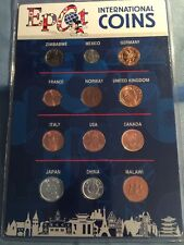 12 Piece Epcot International Coin Set Free Shipping Sealed Unopened