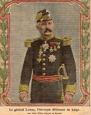 IMAGE 1914 PRINT GUERRE 14 /18 WW1 GENERAL LEMAN HEROIQUE DEFENSEUR DE LIEGE