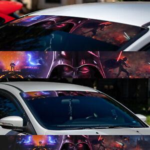 """60"""" Darth Vader Star Wars Sun Strip Car Windshield Vinyl Banner Decal Sticker"""