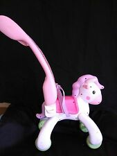 Fisher Price Little Mommy Baby Doll Rocking Horse Pony Stroller Removable Handle