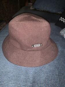 NWT Men's Kangol Stereo Collection Wool Trilby Hat Brown Sz M