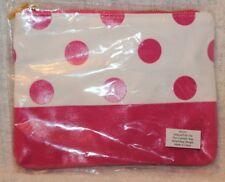 Mixed Bag Designs Natural Pink White Polka Dot Cosmetic Make Up Bag Case