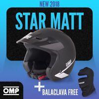 NEW 2018 Open Helmet OMP STAR BLACK Mat size M Rally Race Trackdays ECE