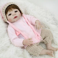 Bebe Reborn Baby Doll Girl Full Body Vinyl Silicone 22'' Lifelike Newborn Gifts