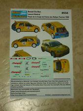 Décals 1/43e Renault Clio Maxi L. Sénécal Finale Coupe de France Tournus 1998
