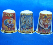 Birchcroft Thimbles -- Set of Three -- Circus Posters
