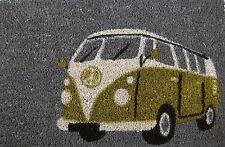 Camper  Van Retro VW Surf Style Door Mat 60 X 40cm - GREEN