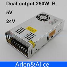 250W B Dual output 5V 24V Switching power supply AC to DC DC 20A DC 6A