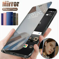 For Huawei Honor V20 20 Pro 20 Lite Smart Clear Mirror Flip Leather Case Cover