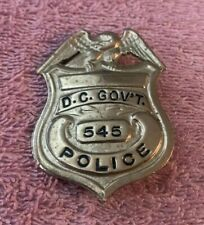 RARE Vintage Obsolete U.S. D.C. GOVERNMENT Police Hat Badge Washington, D C