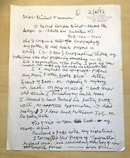 Allen Ginsberg - Handwritten Letter - Signed