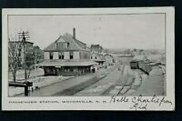 1907 St Johnsburg VT Colebrook NH Woodsville Station Real Picture Postcard Cover